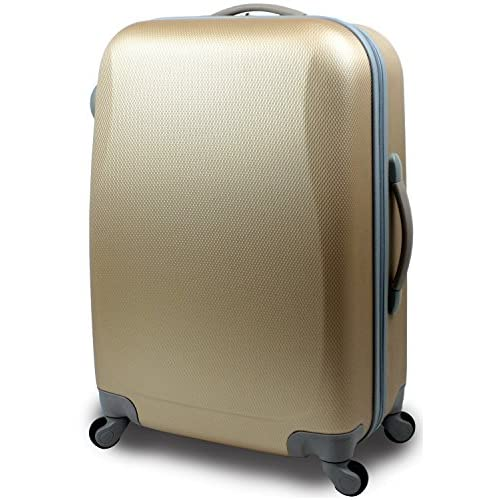 【SUCCESS サクセス】 【 アウトレット  キャリーバッグ 中型 Mサイズ 超軽量 スーツケース 4輪 【AT-2064 シングルファスナーモデル】 (中型 Mサイズ(66cm), ライトゴールド)
