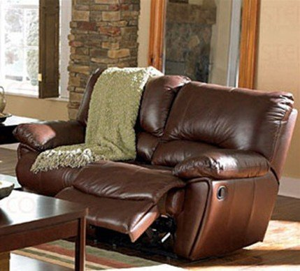 Fabulous Recliner Loveseat Sofa In Brown Leather Match Cheap Low Machost Co Dining Chair Design Ideas Machostcouk