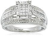 10k White Gold Diamond Ring (1/2 cttw, I-J Color, I2-I3 Clarity)
