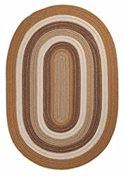 Braided Area Rug 2ft. x 3ft. Oval Amber Way Indoor/Outdoor Reversible Carpet
