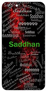 Saddhan (With Money) Name & Sign Printed All over customize & Personalized!! Protective back cover for your Smart Phone : Samsung Galaxy S5mini / G800