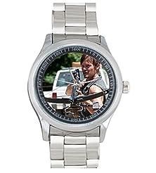 buy Dude Custom Walking Dead Men'S Stainless Steel Watch Sliver Metal