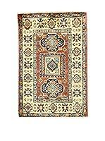 L'EDEN DEL TAPPETO Alfombra Uzebekistan Rojo/Multicolor 61 x 90 cm