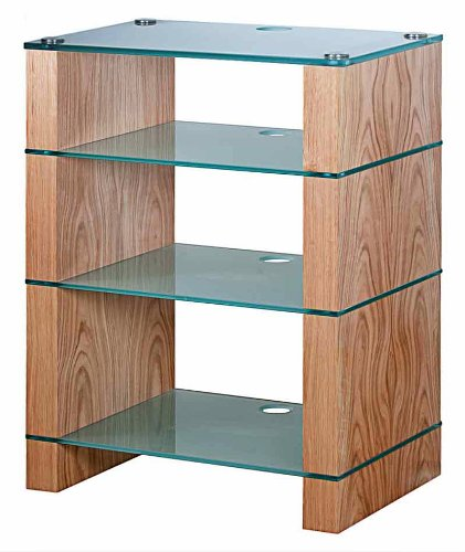 Cheap BLOK STAX DeLuxe 400 Four Shelf Oak Hifi Audio Stand & AV TV Furniture Rack Unit (B003AKE04Y)