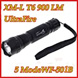 Ultrafire 1000 Lumen Cree Wf-501b Xm-l T6 LED Flashlight Torch 5-modes New