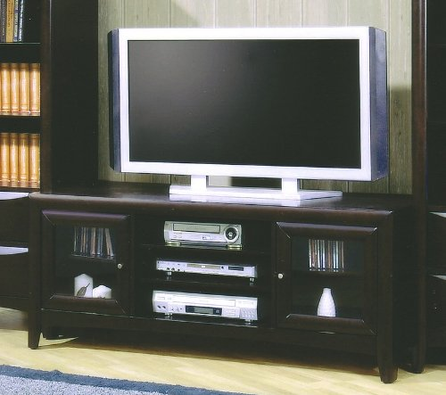 Image of Contemporary Cappuccino Finish LCD / Plasma Flat Panel TV Stand (B0062O6NX6)
