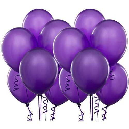 Syeer-100-pcs-Balloons-10-Inch-Thick-Latex-Kids-Party-Balloons-Purple