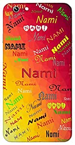 Nami (One of Vishnu's Name) Name & Sign Printed All over customize & Personalized!! Protective back cover for your Smart Phone : Apple iPhone 4/4S