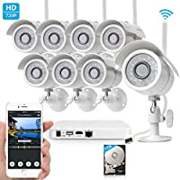Zmodo 720p HD 1.0 MP 8-Ch. Wireless Video Surveillance IP Network Security Camera System with 1TB Hard Drive