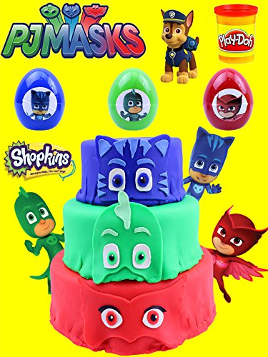 Pj Masks Play Doh Surprise Cake Opening With Catboy, Gekko, And Owlette Surprise Eggs