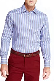 Blue Harbour Pure Cotton Double Face Striped Shirt [T25-7856B-S]