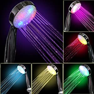 Amazon.com: 7 COLOR LED SHOWER HEAD ROMANTIC LIGHTS WATER HOME