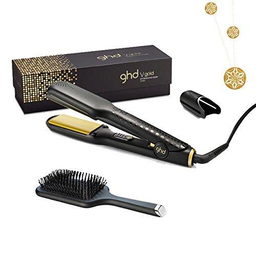 GHD Piastra per capelli Gold Classic con GHD Spazzola Piatta e collana placcato oro di l' Oréal