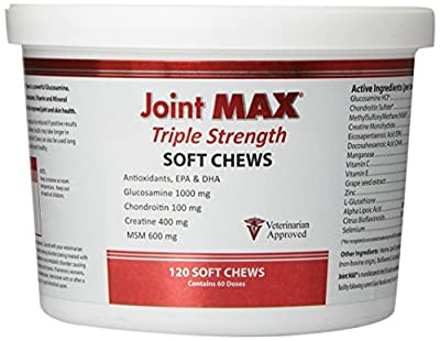 Pet Health Solutions Joint MAX Triple Strength Soft Chews Glucosamine Chondroitin with MSM for Dogs Hip & Joint, Made in USA