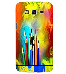 PrintDhaba Colour Pencils D-5847 Back Case Cover for SAMSUNG GALAXY GRAND 2 (Multi-Coloured)