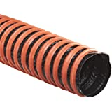 Flexaust FSP-1 Polyester Duct Hose, Black, For Use With Air, Fume
