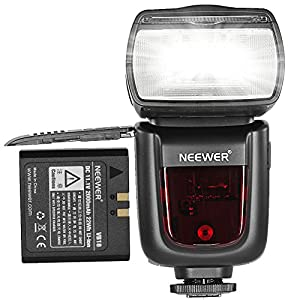 Neewer® TT850 *LI-ION BATTERY* Flash Speedlite For Canon, Nikon, Pentax , Olympus and all other SLR DSLR CAMERAS Professional Photography, 650 Full Power POPS with single Li-ion battery! 1.5s Recycle time!(World's First Li-ion Battery Powered Speedlite Flash!)