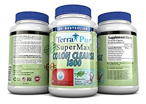 Detox Colon Cleanse By Terrapur, Super Max Colon Cleanse 1800, If You're Looking to Shed the Pounds Then This Amazing Detox Cleanse Is What You Need, Flush Harmful Waste and Remove Stubborn Belly Fat, Lose Weight and Feel Lighter and Healthier, Manufactured in a GMP Certified Organic Facility, Potency and Purity Guaranteed!! Launch Special Price!!