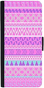 Snoogg Pink Aztec Patterndesigner Protective Flip Case Cover For Apple Iphone...