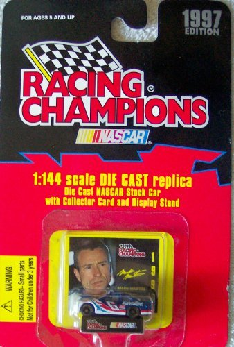 1997 Edition Racing Champions Mark Martin #6 Valvoline 1:144 Scale Replica Die Cast Replica w/Collector Card and Display Stand - 1
