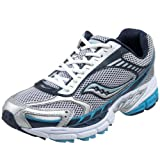 Saucony Little Kid Big Kid Progrid Guide 2 Running Shoe Silver/Navy/Blue 7 B US Big Kid