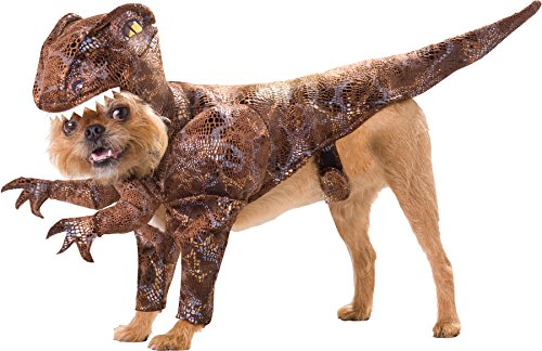 UHC Raptor Dinosaur Animal Planet Funny Theme Halloween Pet Dog Costume, L (Animal Planet Raptor Dog Costume)