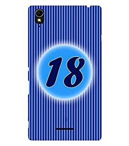 Fuson 3D Printed Numerology Designer back case cover for Sony Xperia T3 - D4236