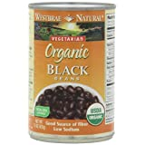 Westbrae Natural Organic Black Beans, 15 Ounce Cans (Pack of 12) ~ Westbrae