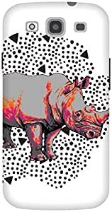 The Racoon Lean Rhino Footprints hard plastic printed back case / cover for Samsung Galaxy S3 Neo