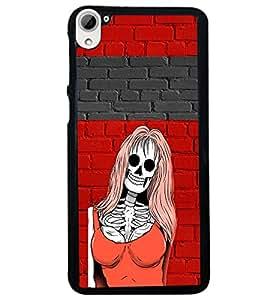 PRINTVISA Abstract Girl Skull Case Cover for HTC Desire 826
