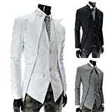 TM Mens Korean Casual asymmetric design slim fit Suit Blazer Jackets