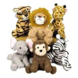 Fun Express Assortment Suede Jungle Animal (Set of 12)