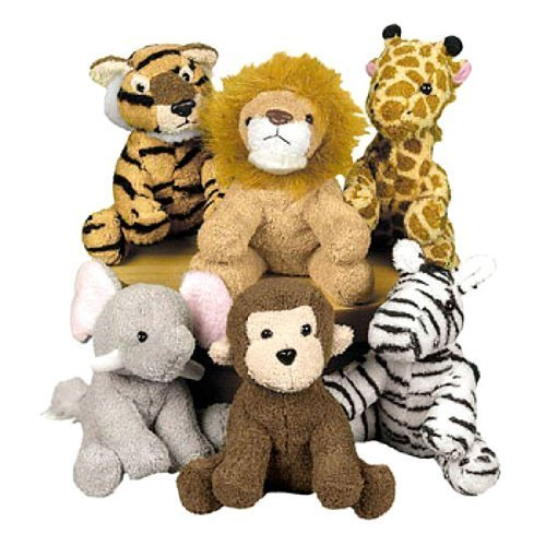 Fun-Express-Assortment-Suede-Jungle-Animal-Set-of-12Discontinued-by-manufacturer