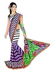 Ananyaaa Women Georgette Designer Saree Latest 4 _ Multicolour _ Freesize