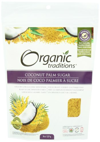 Organic Traditions Coconut Palm Sugar, 8 Ounce