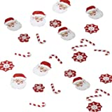 Ginger Ray Christmas Table Confetti Father Christmas and Candy Cane, 14g Pack party