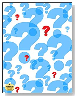 Question Marks Notebook - Large blue question marks with a few bright red ones make a stunning cover for this blank and college ruled notebook with blank pages on the left and lined pages on the right.