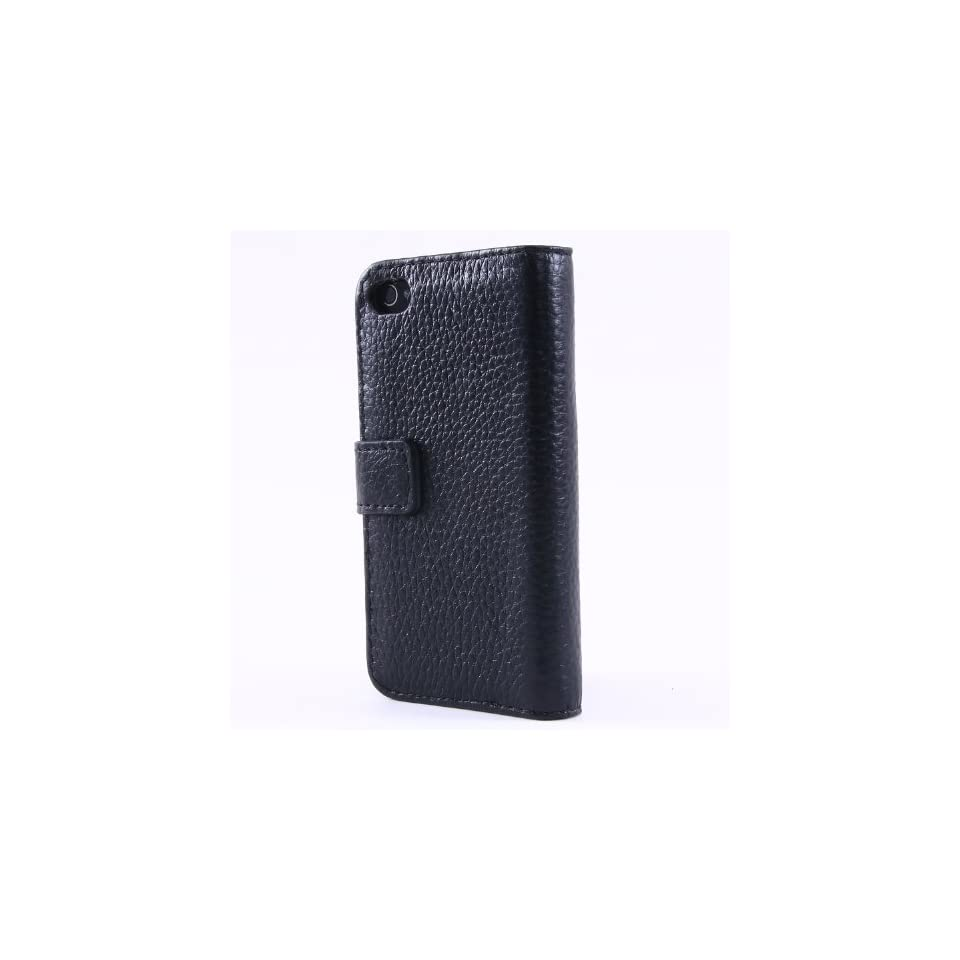 New Embossed Genuine Leather Flip Case Cover Pouch for Iphone 4/4s