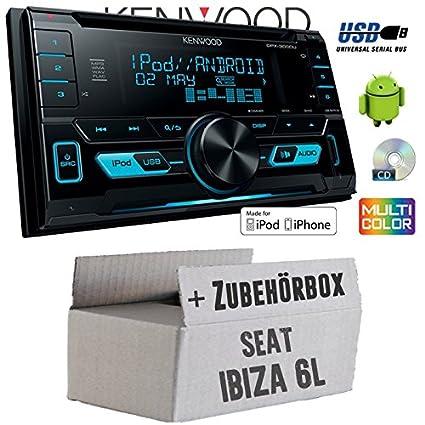SEAT IBIZA 6L-Kenwood DPX-3000u-2DIN USB Kit de montage autoradio CD MP3-