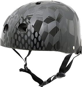 Krash Cube Hurt Black SK8 Helmet, Youth 8+ Years, Black by Krash