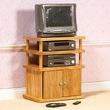 Maison de poupées 4438 HiFi réglé avec TV et armoire 01h12 pour maison de poupée