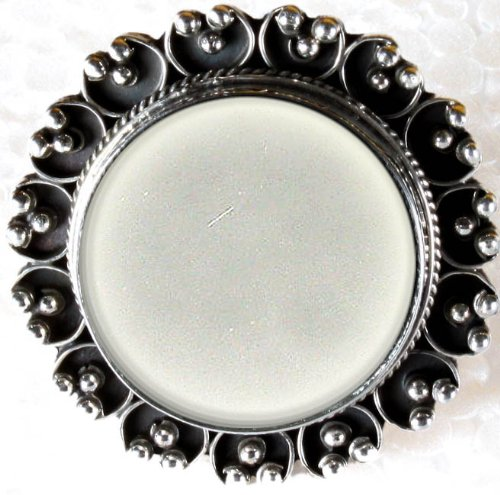 Arsi - Thumb Ring Used by Indian Brides to View Their Make Up - Sterling Silver with Mirror
