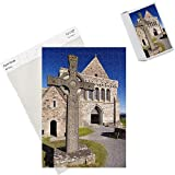Photo Jigsaw Puzzle of Replica of St. John s cross stands proudly in front of Iona Abbey, Isle of Iona from Robert Harding