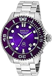 Invicta Pro Diver Automatic Purple Dial Stainless Steel Mens Watch 20175