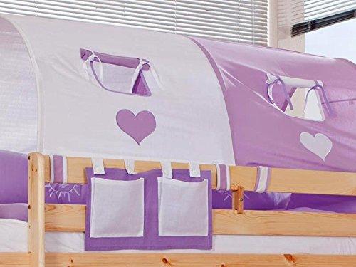 Emob Grand Tunnel violet/blanc coeur