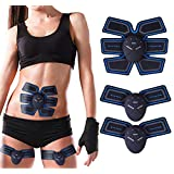 Christmas Best Gift!!!Kacowpper EMS Muscle ABS Fit Training Gear Abdominal Body Home Exercise Shape Fitness Set