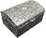 The Divine Luxury Silver-Plated Antique Jewelry Box
