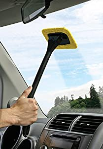 Auto Glass Cleaner Wiper Keeps Cars Vehicles Interior Exterior Windshields Windows Clean - Includes Long Handle Cleaner, Wipes, Cleaning Cloth, and Storage Pouch - Use Wet or Dry by Ideas In Life