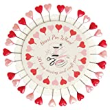Heart Shaped Plastic Heads Sewing Pin Wheel Quilting Pins