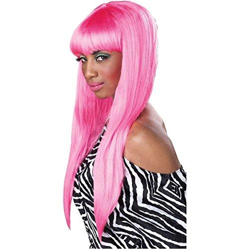 GSG Bubble Gum Wig Costume Accessory Adult Womens Hot Pink Halloween (Adult Princess Bubblegum Costume)